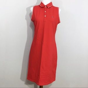 Tommy Hilfiger Cotton Polo Sleeveless Dress Red M